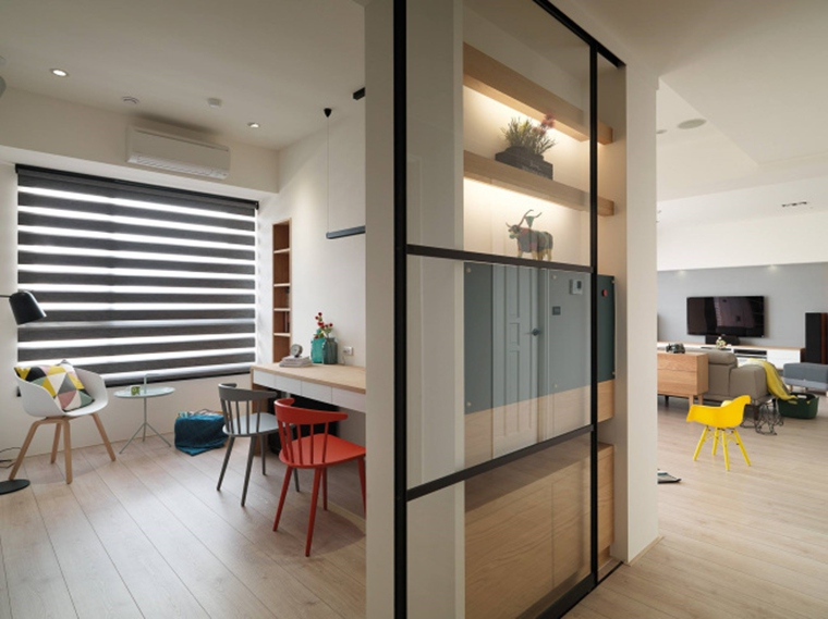 北欧风格三居室装修隔断图片