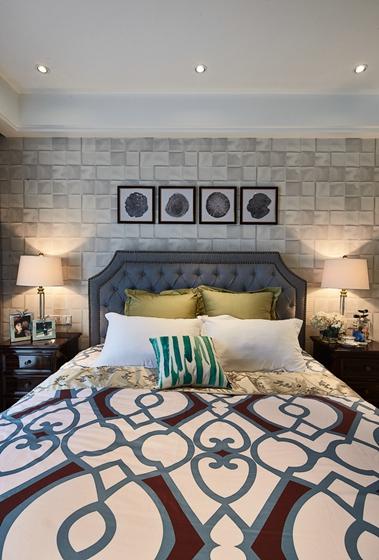 简约美式风格装修卧室效果图
