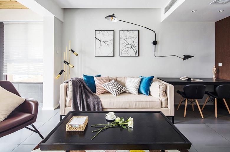 83㎡现代风三居室客厅图
