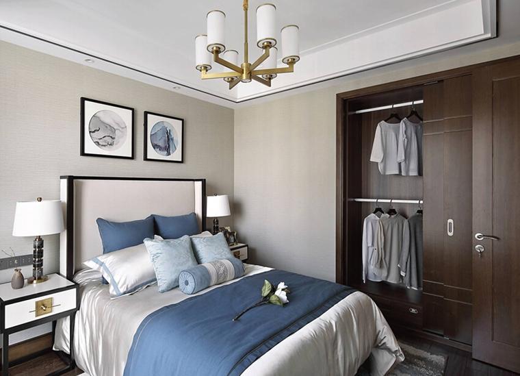 新中式风格大户型装修小卧室装潢图