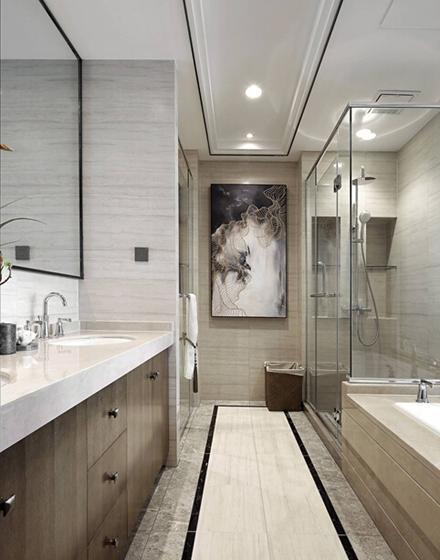 新中式风格大户型装修卫生间图片