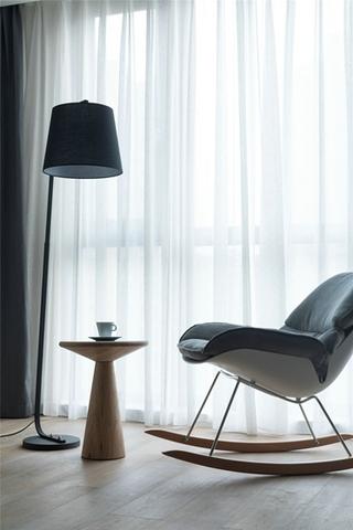 简约风格三居室客厅窗帘