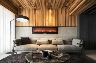 工业风大平层设计客厅效果图