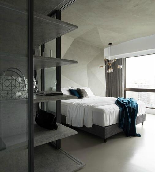工业风大平层设计大卧室装潢图