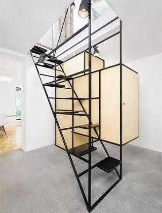 阁楼楼梯装饰平面图