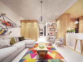 木质清新大户型装修客厅图