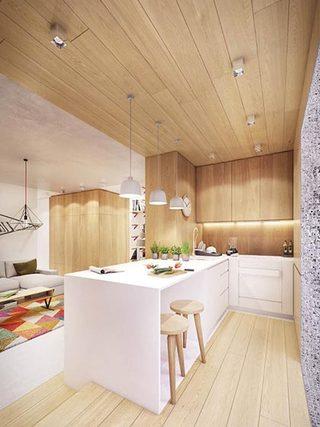 木质清新大户型装修餐厅实景图