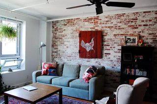 裸砖背景墙装修装饰效果图