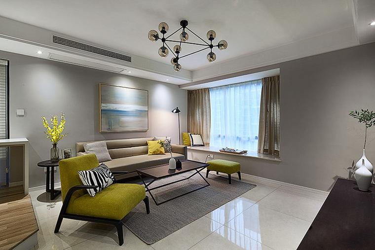 小户型简约风格装修客厅效果图