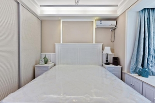 80平清新美式风格装修小卧室图片