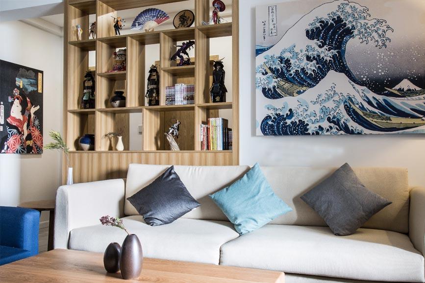 73㎡日式家装设计沙发摆放图