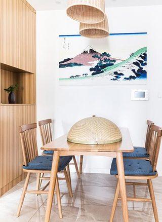 73㎡日式家装餐厅设计图