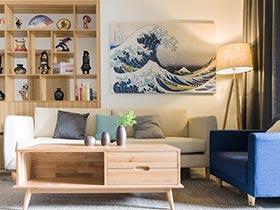 73㎡日式家装设计图片   温和的风
