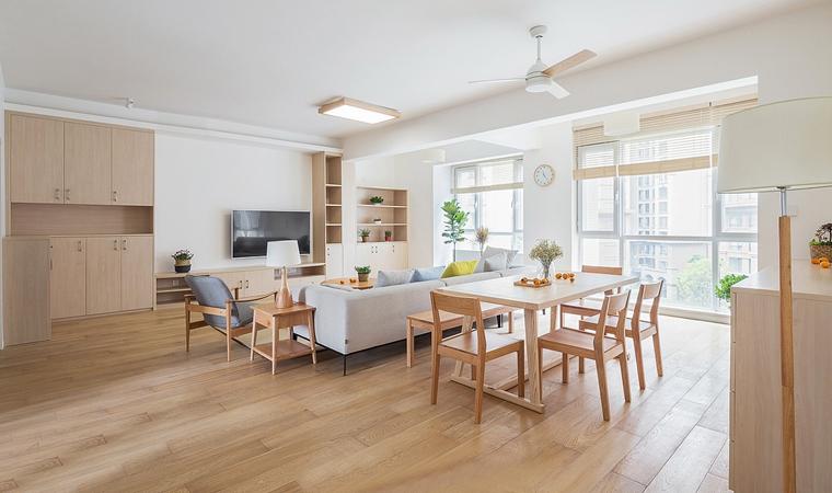 日式风格三居室装修客厅效果图