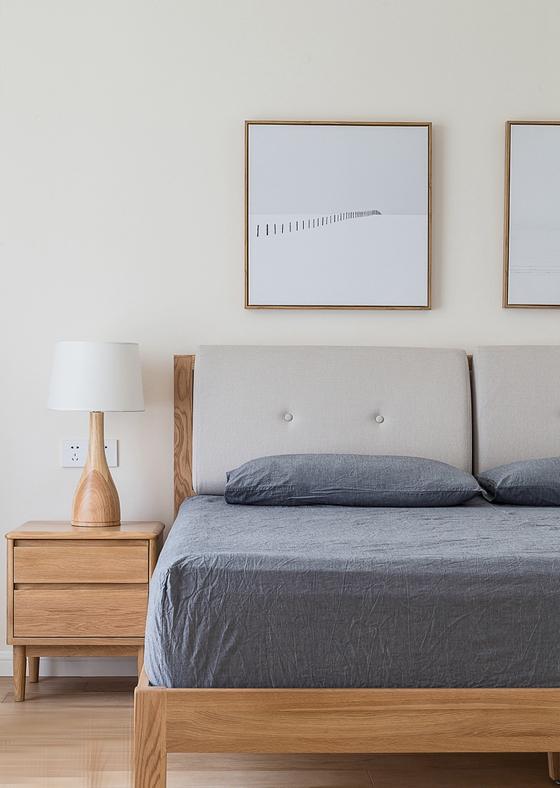 日式风格三居室装修清新卧室
