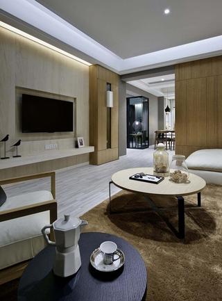120平现代简约风格装修客厅茶几