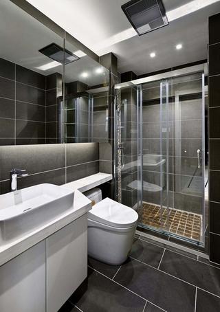 120平现代简约风格装修卫生间图片