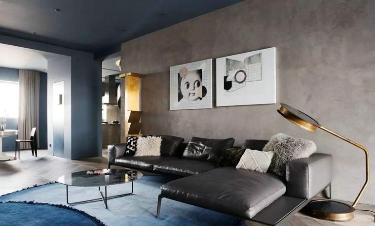 工业风格公寓装修客厅效果图
