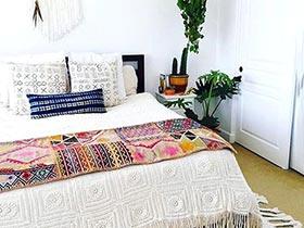 波西米亚度假风   10款卧室布艺床设计图