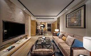 20万搞定三居室装修客厅背景墙