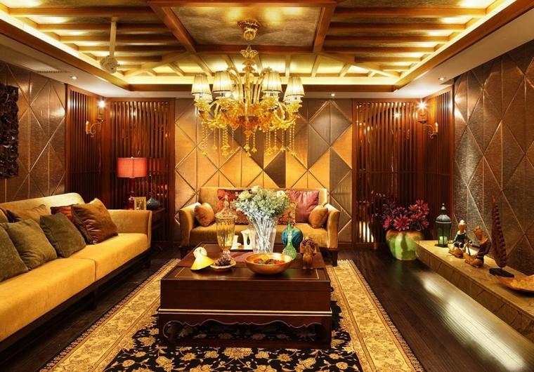 异域风格大户型装修会客厅图片