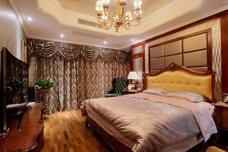 浓墨重彩的欧式风格装修卧室吊灯