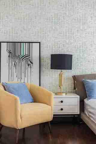 温润如玉的三居室装修单人沙发图片