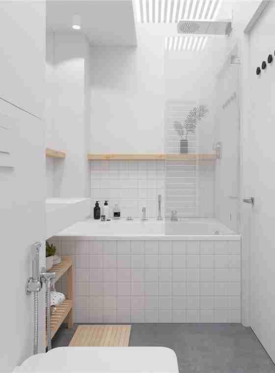 90平loft风格装修卫生间图片