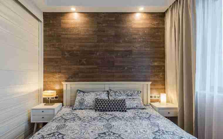 北欧风格婚房装修卧室背景墙