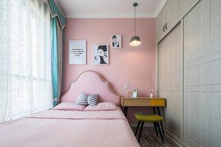 74㎡北欧小户型卧室构造图