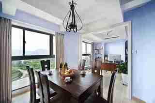 蓝调两居室装修餐厅效果图