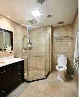 蓝调两居室装修淋浴房