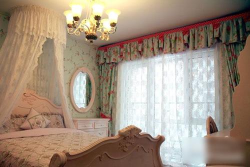 美式田园风格窗帘搭配 把田园风情带回家图片