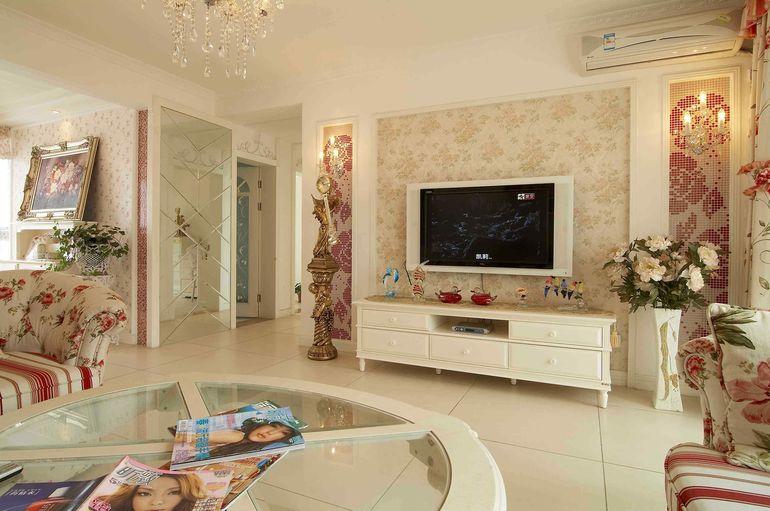 【西安盛腾美巢家装】客厅影视墙装修设计 客厅影视墙