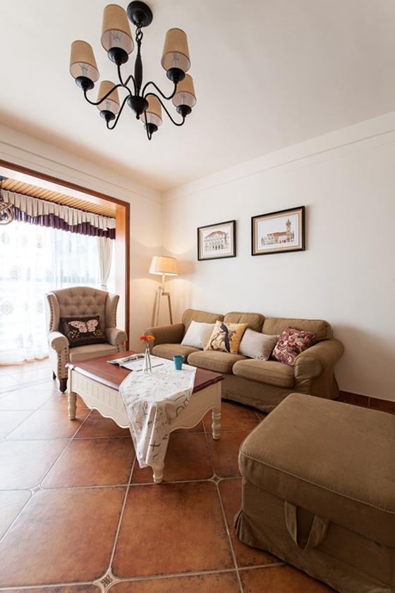 80平两居室装修布艺沙发图片