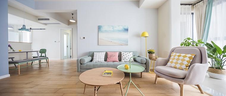 90平北欧风格装修布艺沙发