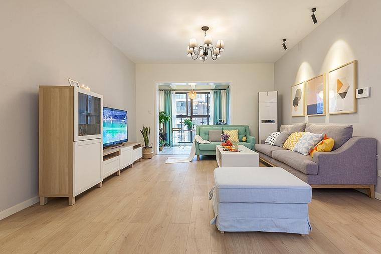 90平宜家风格装修布艺沙发