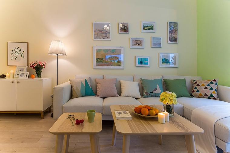 20万搞定100平三居室装修布艺沙发