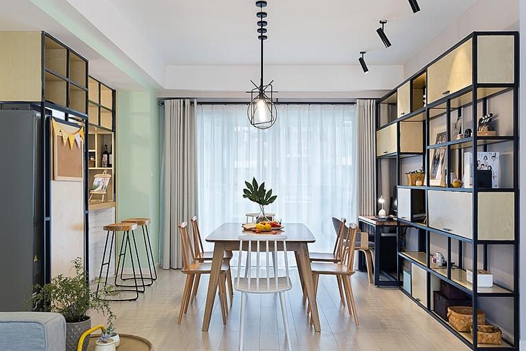 清新两居室装修餐边柜图片
