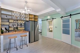 清新两居室装修吧台效果图