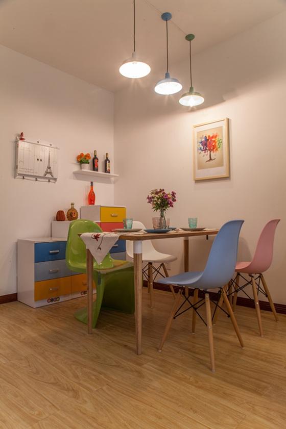60平小两室装修餐厅效果图