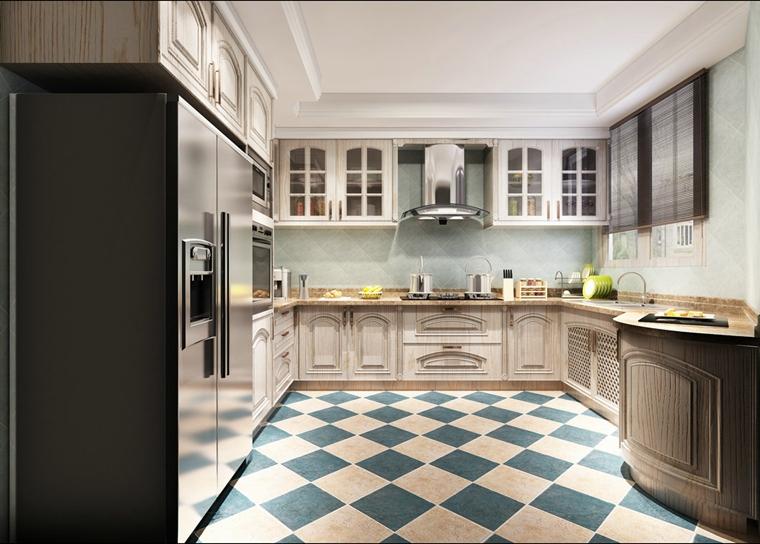 美式厨房装潢图
