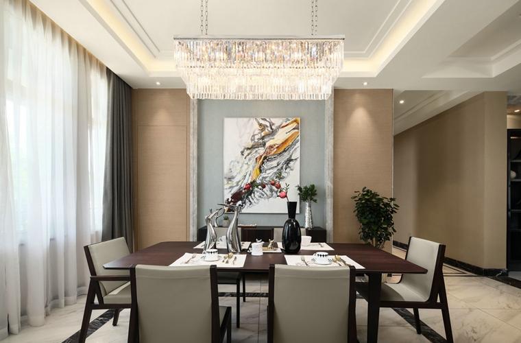 海派风格装修餐厅背景墙图片