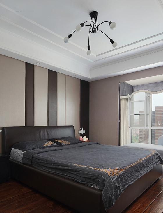 时尚两居室装修卧室装潢图