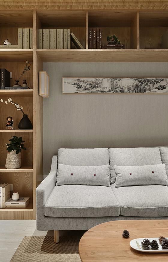100平原木自然味两居室布艺沙发图片