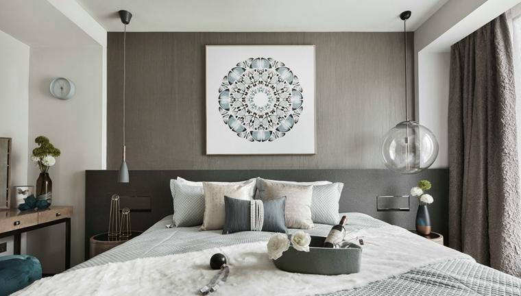时尚三居室装修卧室效果图