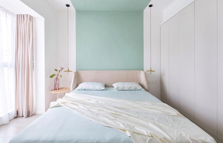 清新两居室装修次卧装潢图