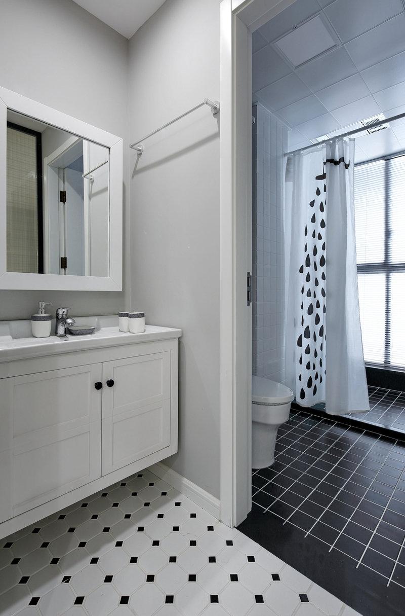5-10万80平米欧式二居室装修效果图,北欧休闲简约风情