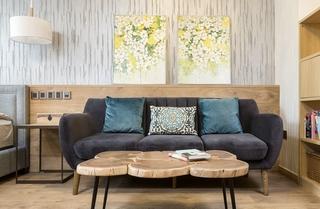 简约风格三居室装修小客厅设计图