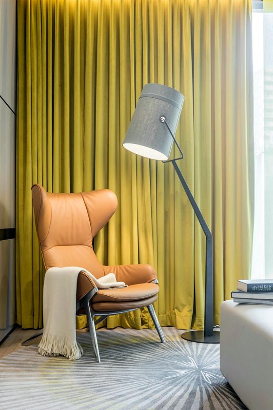 三居室公寓装修单人沙发图片